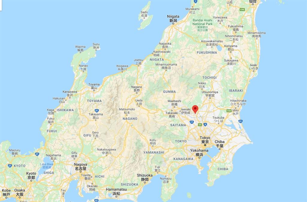 Tatebayashi map