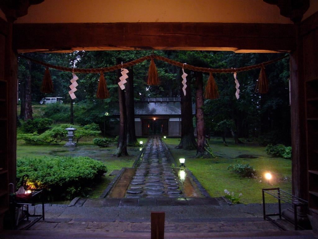 Entrance to Saikan shukubo at Haguro-san