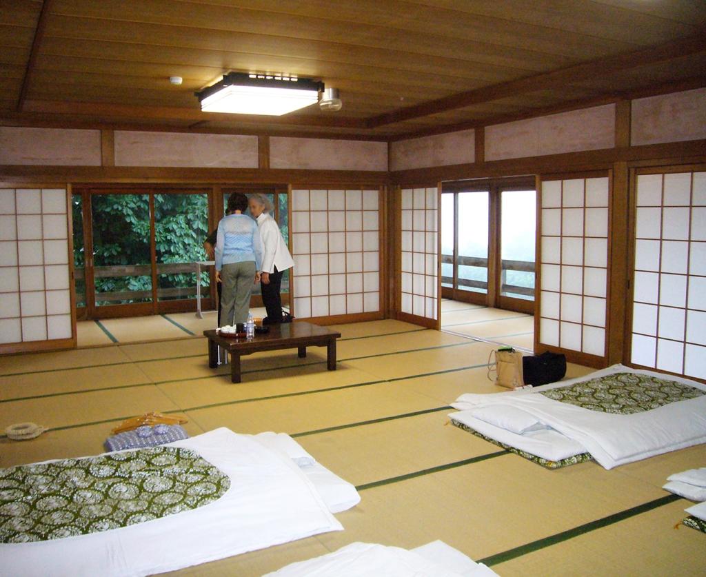 Tatami room at Saikan shukubo at Haguro-san