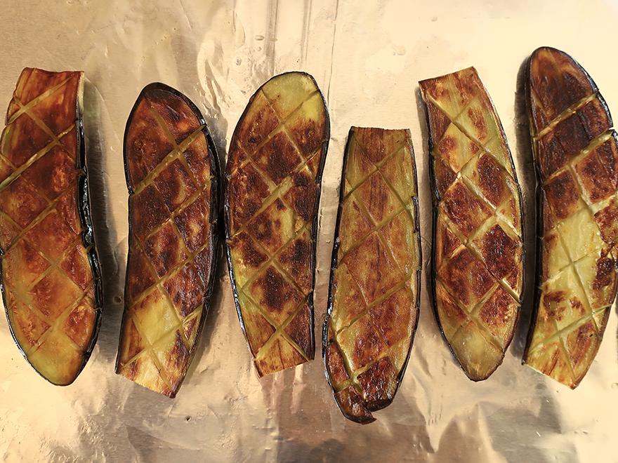 Seared Japanese eggplant