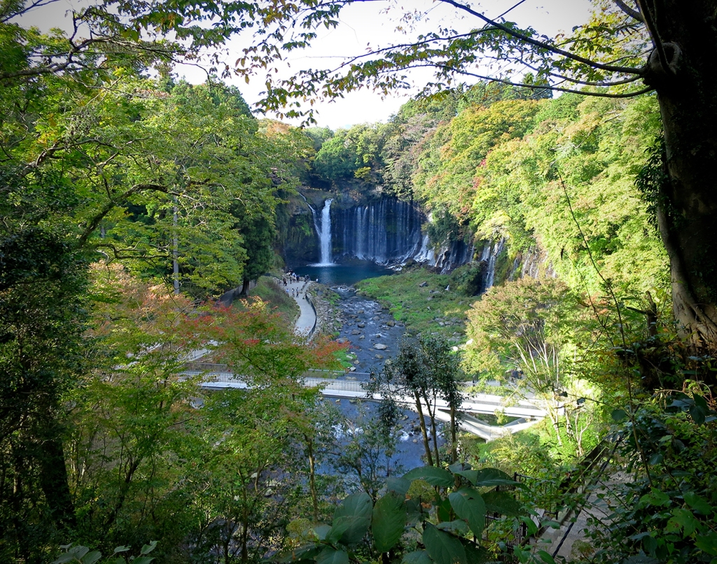 View of Shiraito-no-taki waterfall from the overlook