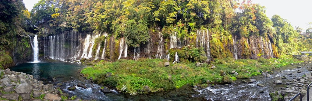 Shiraito-no-taki waterfall panorama photo