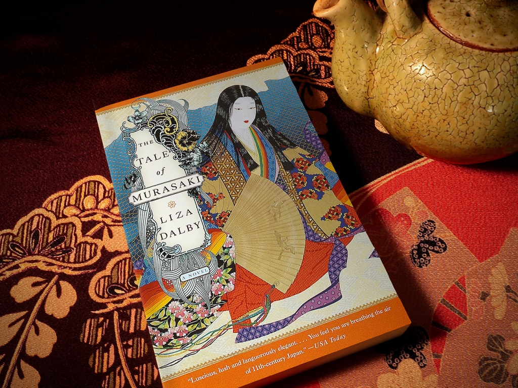 The Tale of Murasaki by Liza Dalby cover with teapot and furoshiki