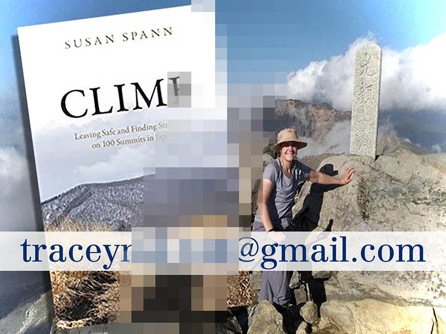Winner of Japanagram August book giveaway CLIMB by Susan Spann