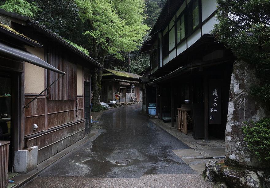 Street outside Jakko-in convent in Ohara, near Kyoto