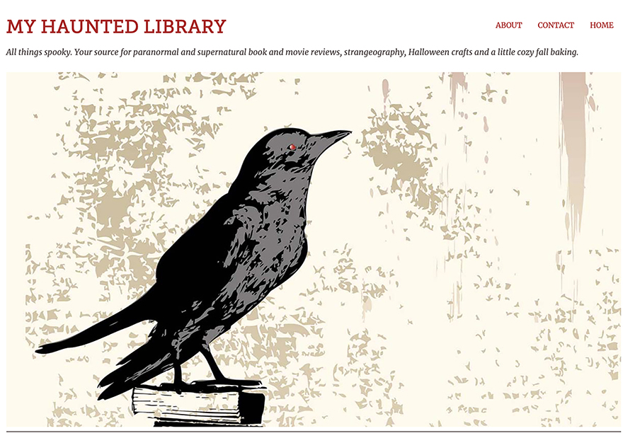 My Haunted Library blog header