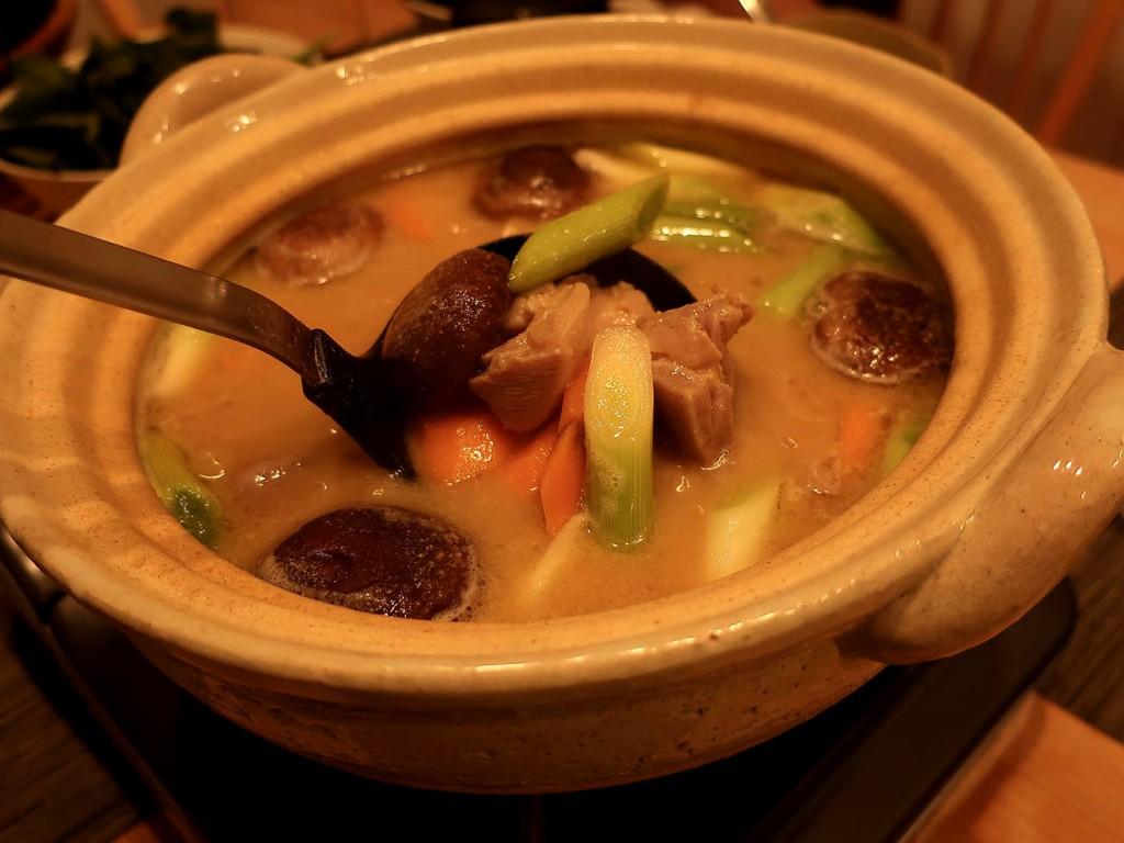 Miso-goma nabe sesame-miso hotpot