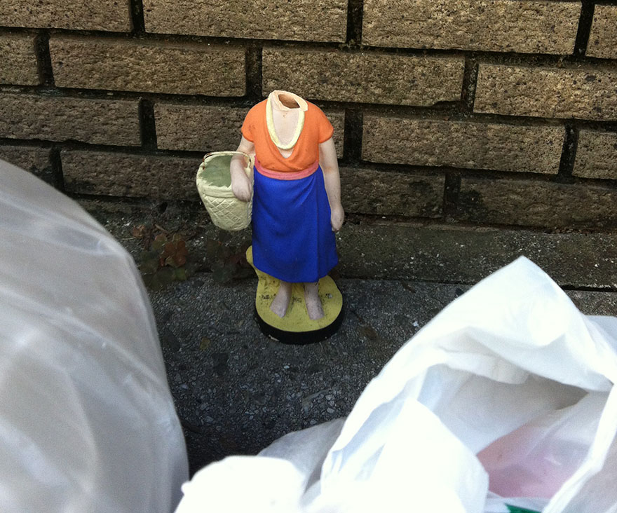 Garbage left out at the curb in Tokyo