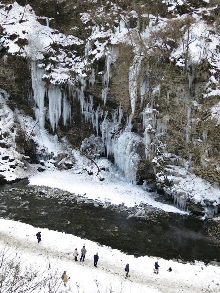 Misotsuchi icicles in Chichibu Saitama