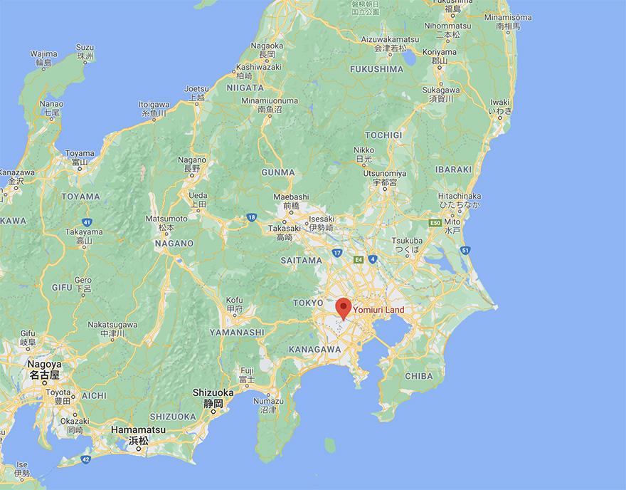 Yomiuriland Jewelluminations location map