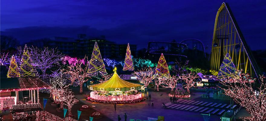 Yomiuriland Jewelluminations Garnet area