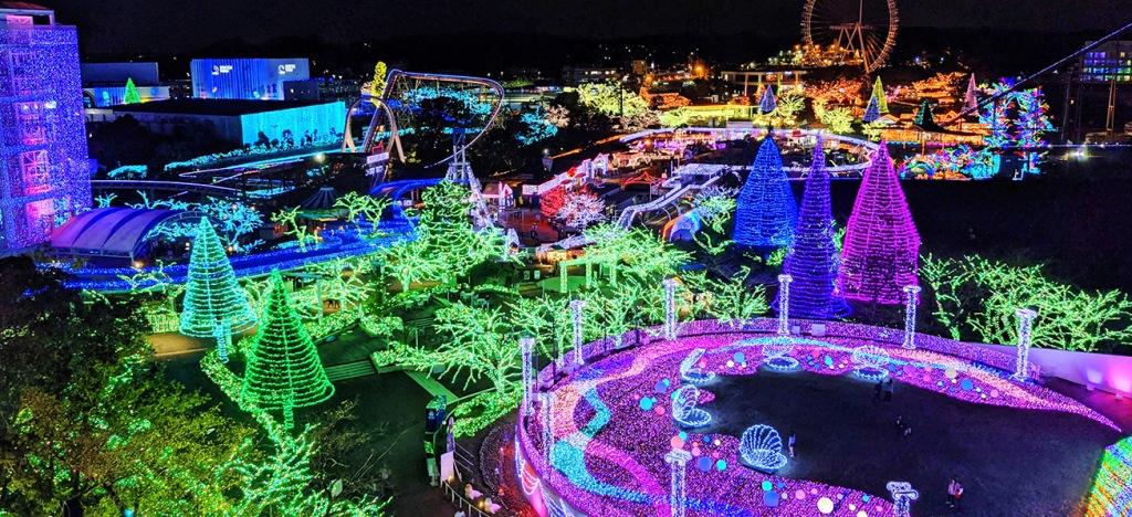 Yomiuriland Jewelluminations aerial view