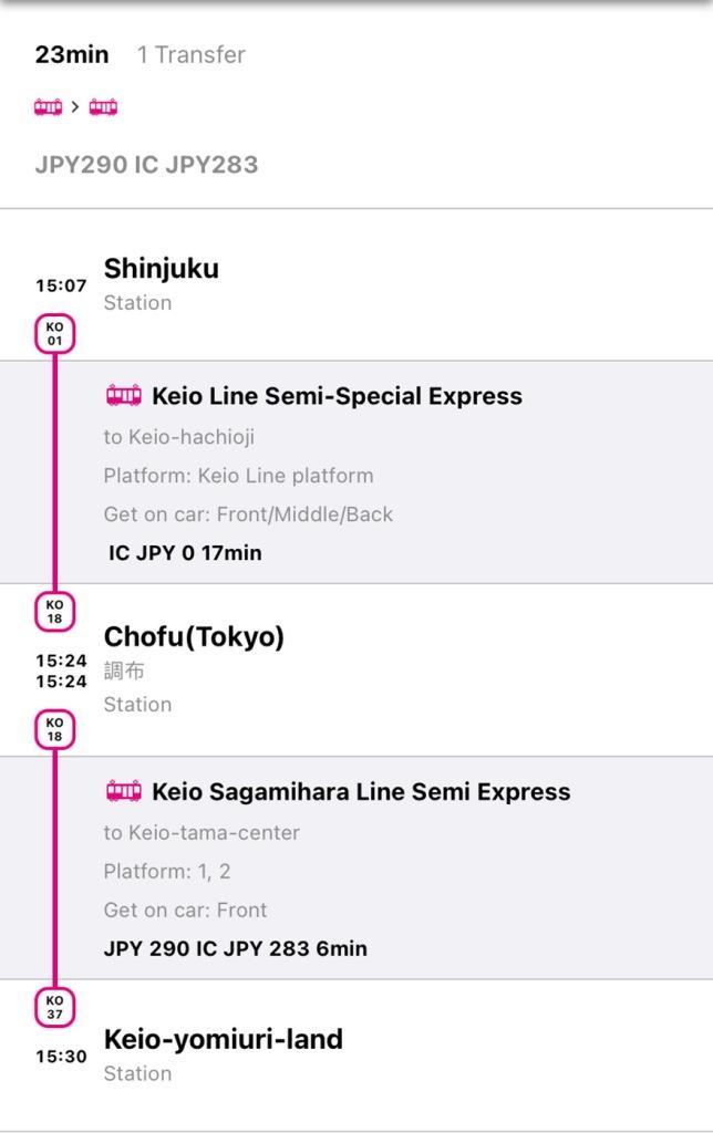 Yomiuriland Jewelluminations train route