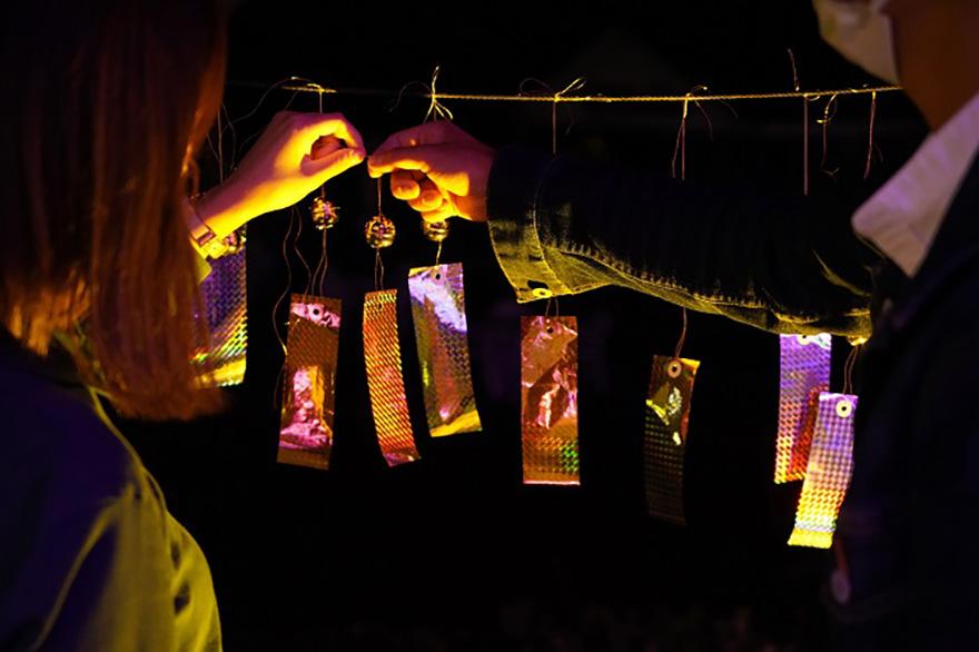 Yomiuriland Jewelluminations wishing bells