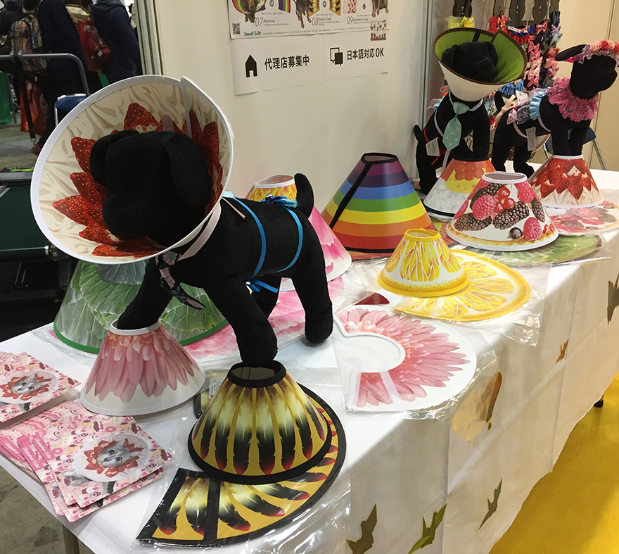 Pet surgery cones with pretty designs