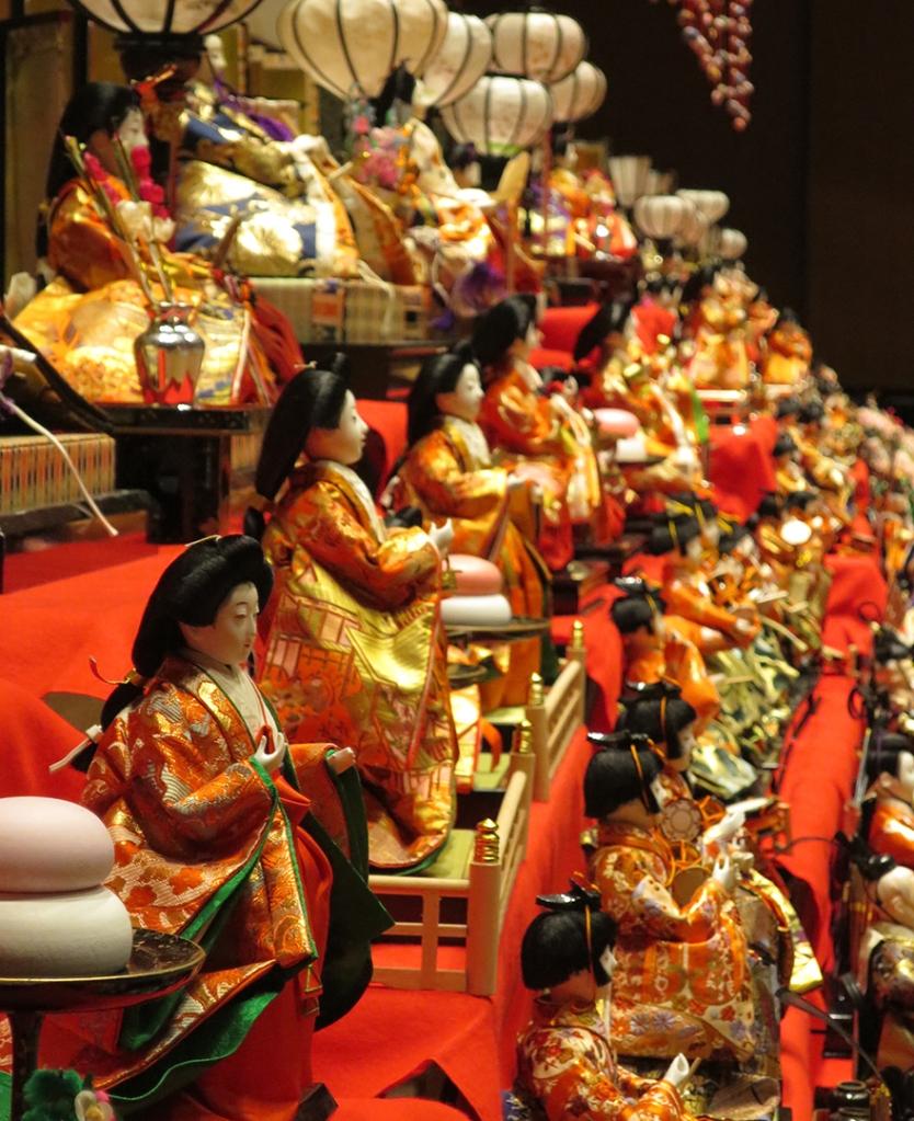 Katsuura Doll Festival hina matsuri many sets of dolls