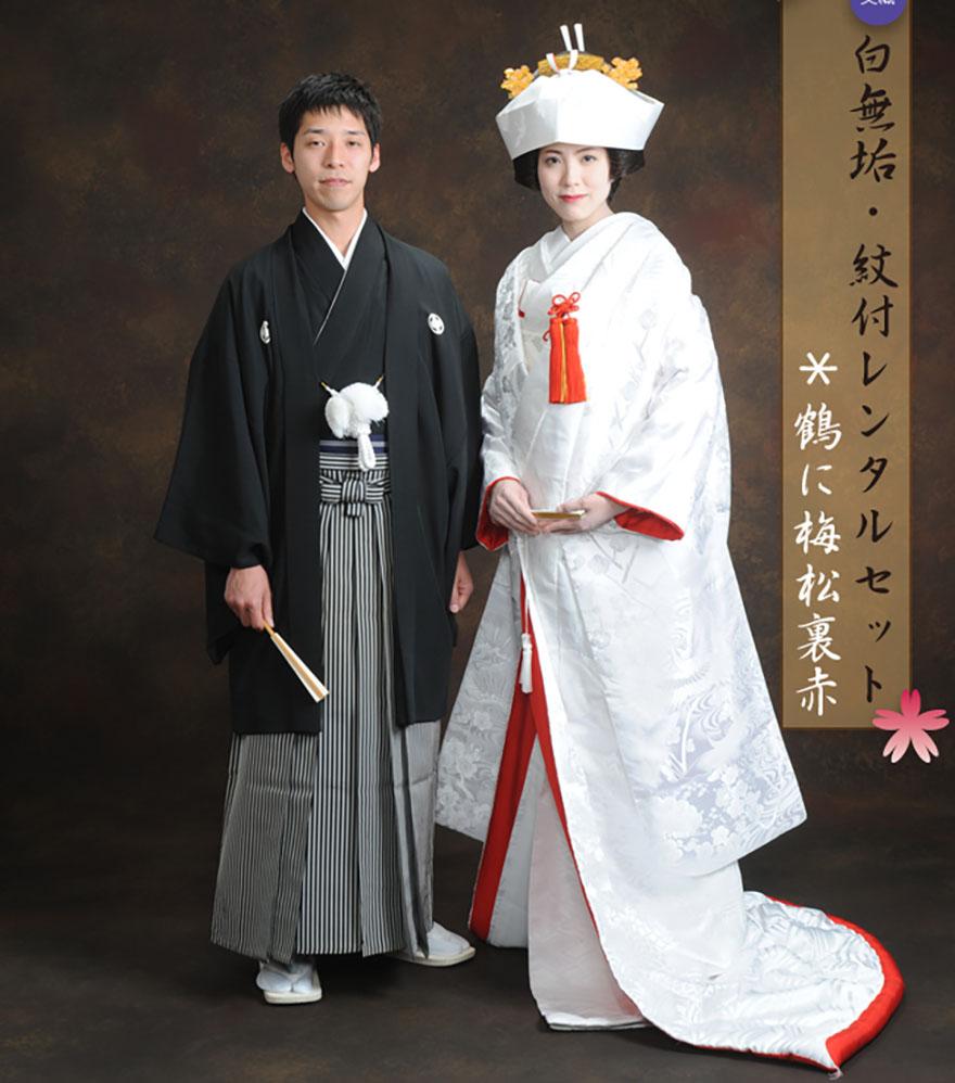 Traditional Japanese wedding clothing
