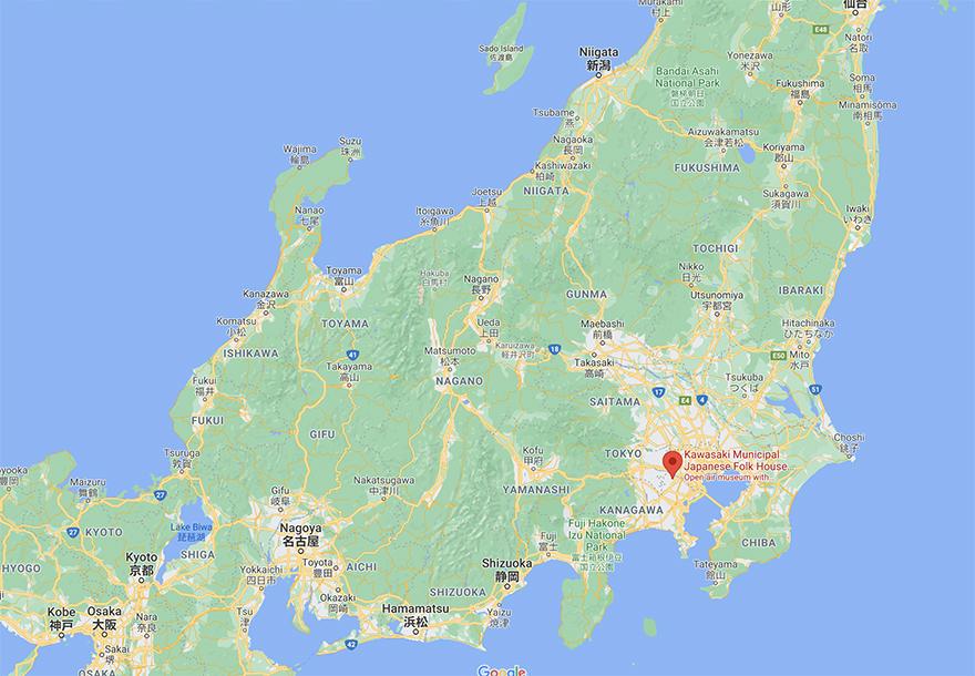 Map of the Nihon Minka-en Japanese Folk House Garden