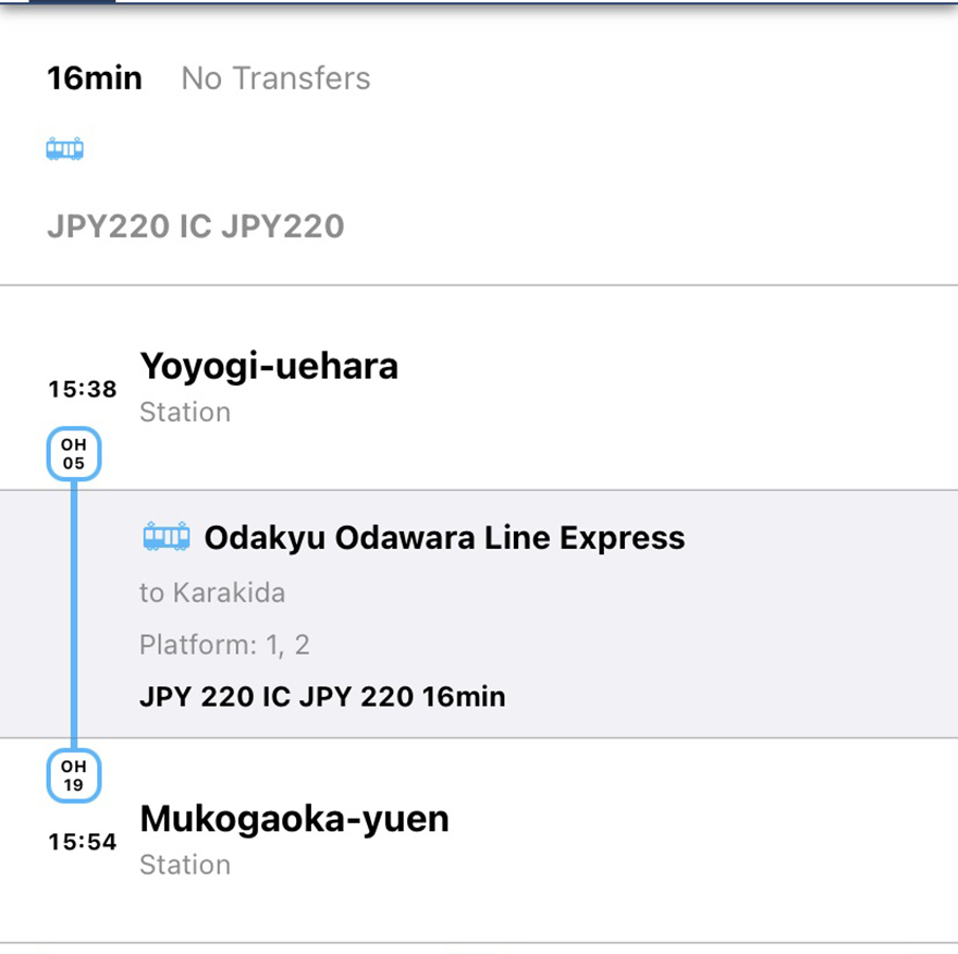 Train route to the Nihon Minka-en Japanese Folk House Garden