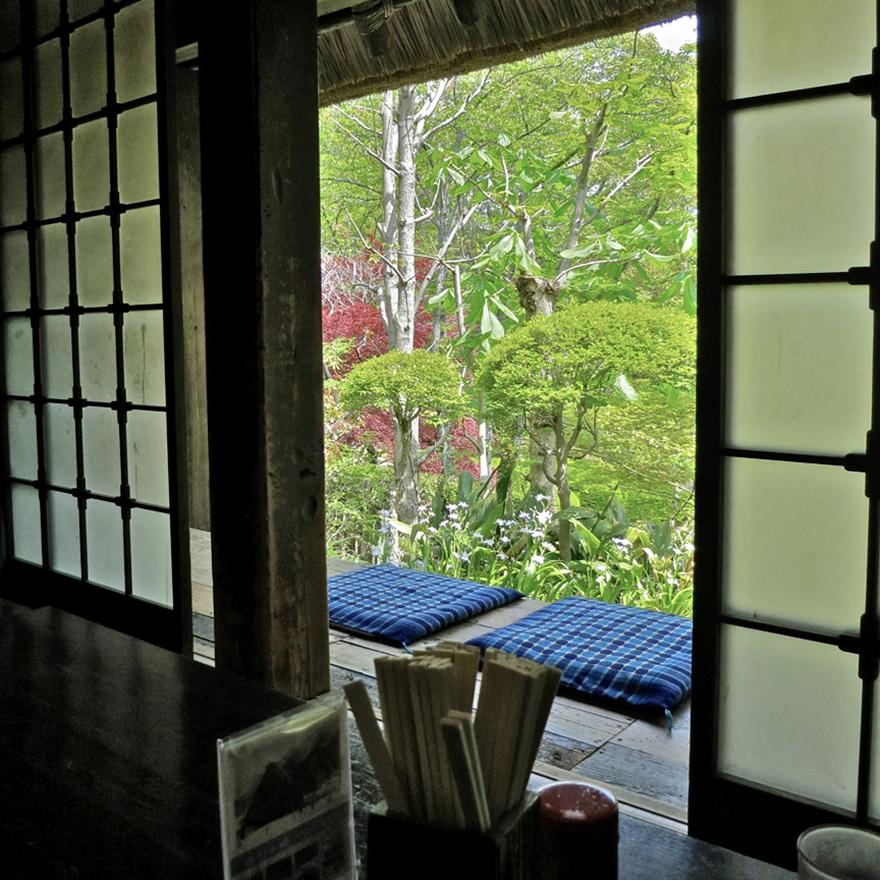 The soba restaurant at the Nihon Minka-en Japanese Folk House Garden