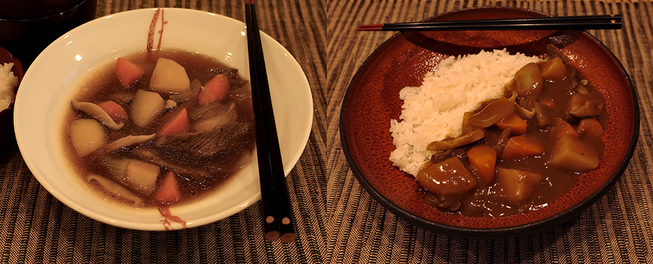 Niku-jaga and niku-jaga curry rice