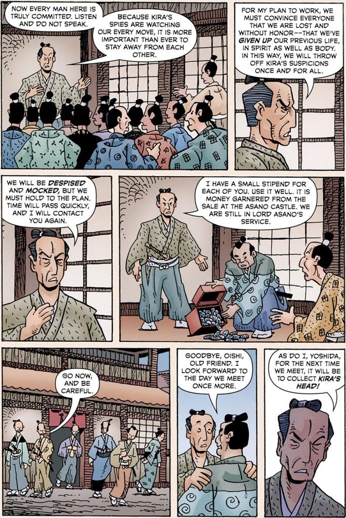 Page of manga comic 47 Ronin by Mike Richardson and Stan Sakai