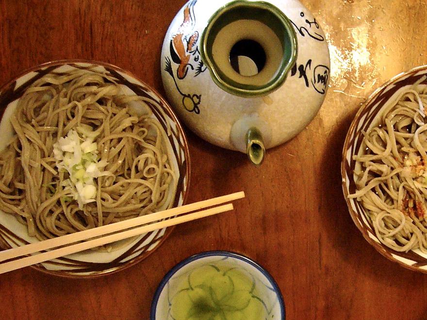Soba noodles on Sado Island