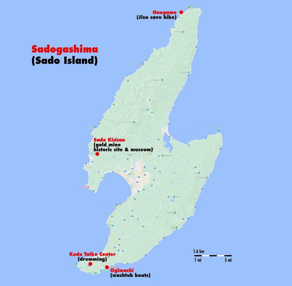 Sado Island map